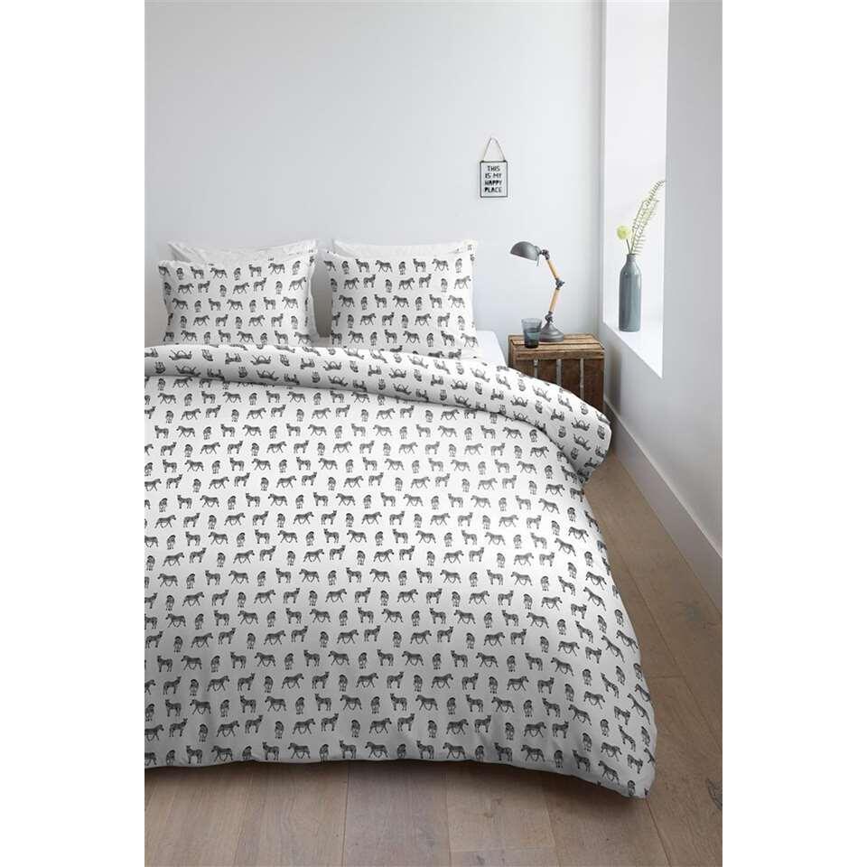 ambiante housse de couette kenya noir 140x200 220 cm. Black Bedroom Furniture Sets. Home Design Ideas