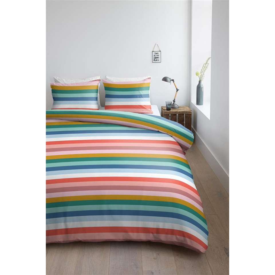 housse de couette ambiante parker multicolore 140x200. Black Bedroom Furniture Sets. Home Design Ideas