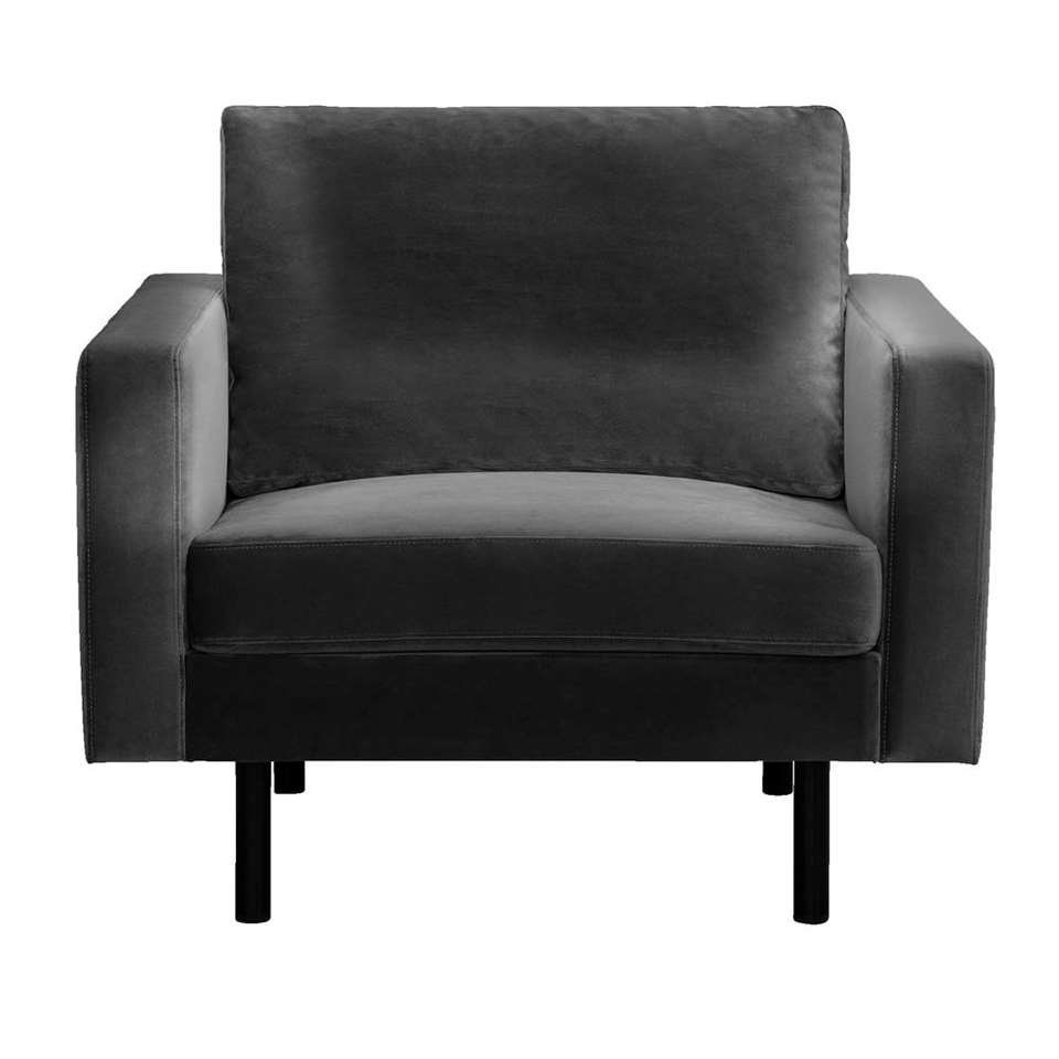 Fauteuil Collin - velours - anthracite