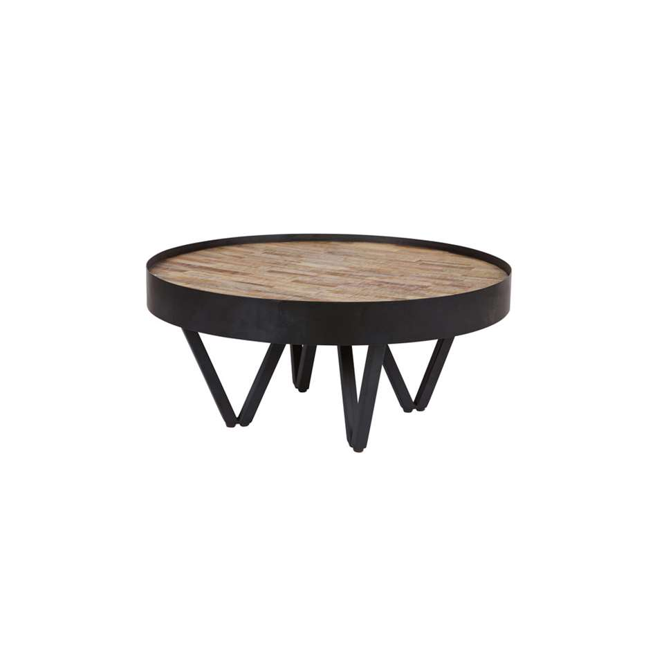 Woood table d'appoint Dax - naturelle - 34xØ74 cm