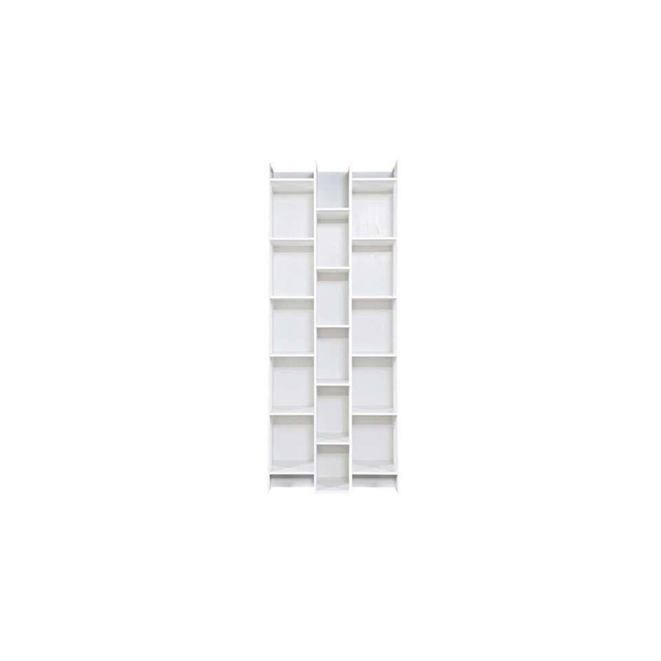 Woood armoire à casiers Expand - blanche - 200x80x35 cm