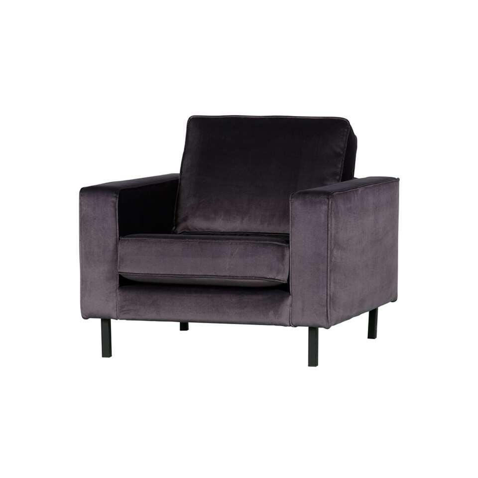 Woood fauteuil Robin - antraciet - 80x97x93 cm