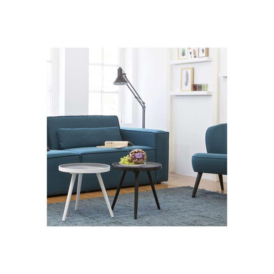 Woood table d'appoint Sasha - blanche - 41xØ41 cm