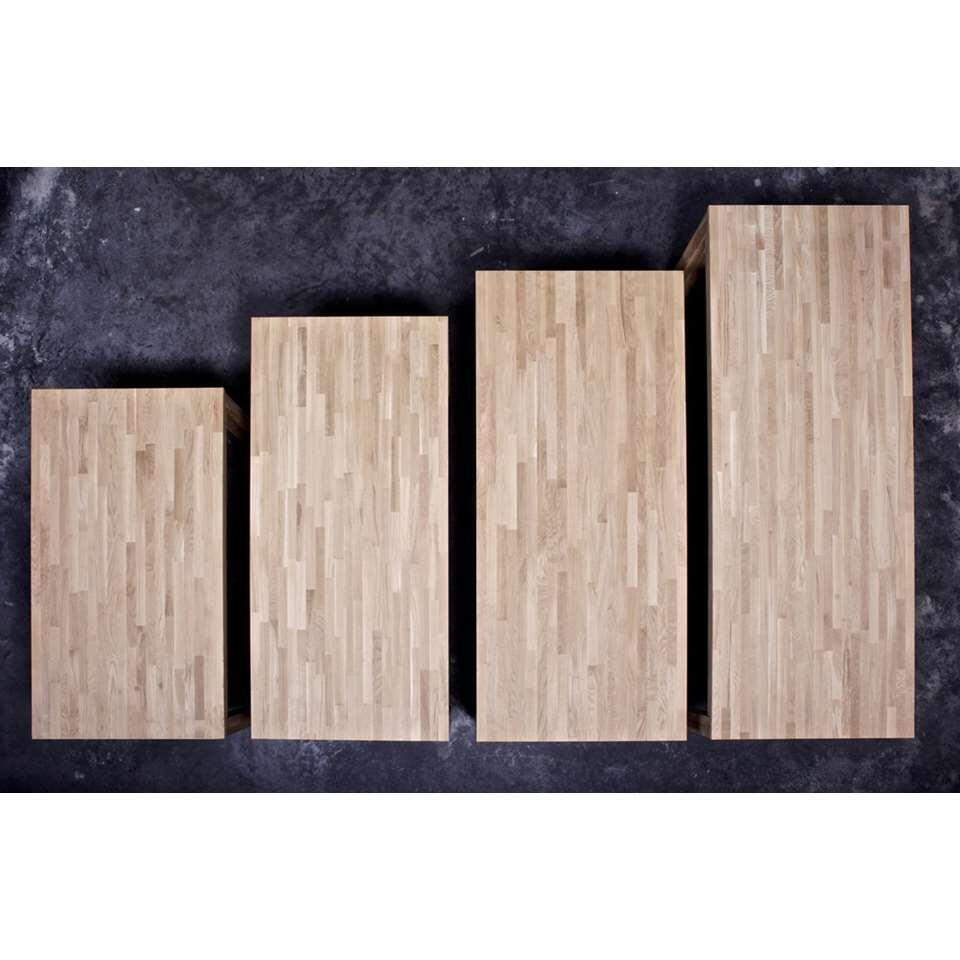 Woood table à manger Largo - couleur chêne - 78x230x90 cm