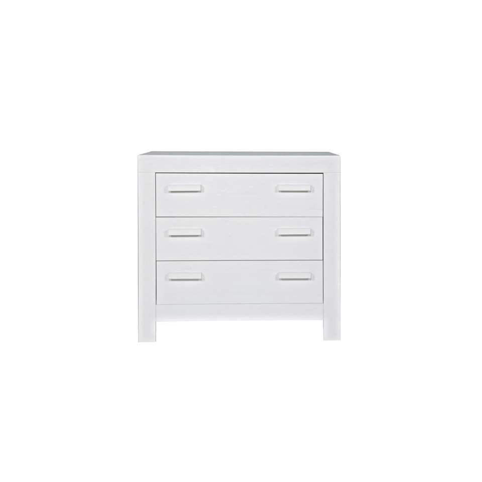 Woood commode New Life - blanche - 91x95x52 cm