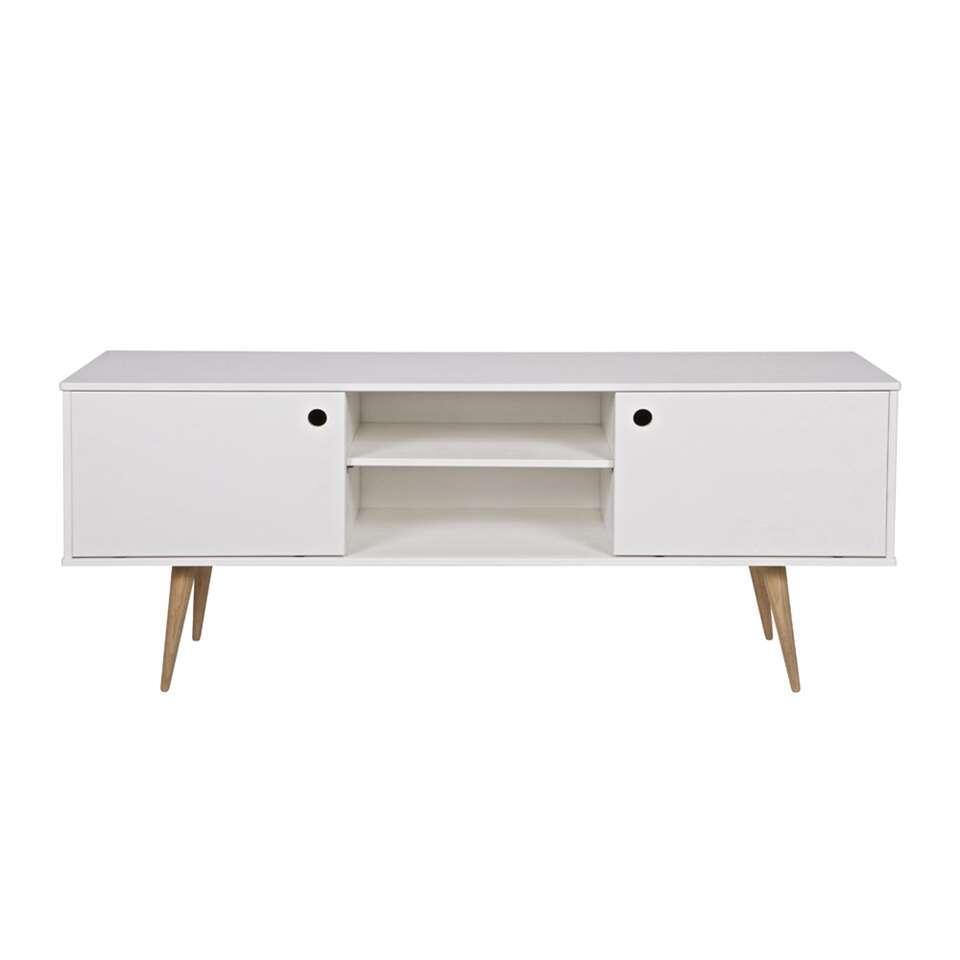 Woood tv-meubel Retro - wit - 60x150x38 cm