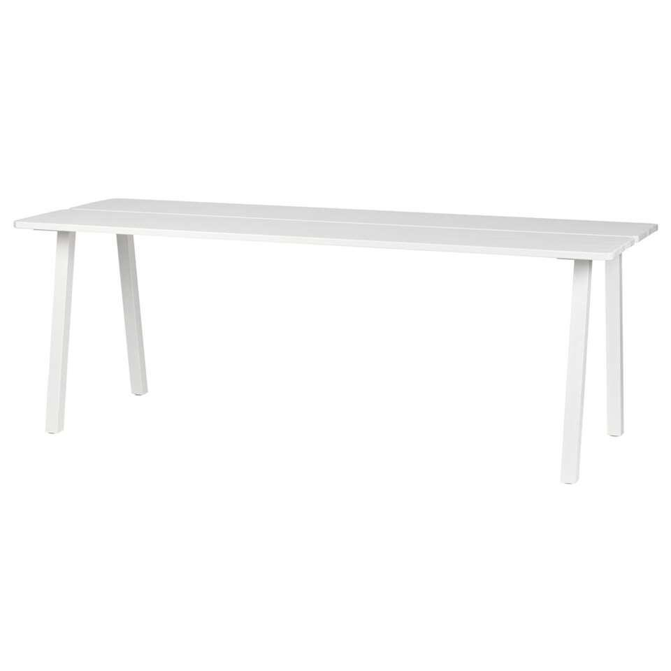 Woood table à manger Triomf - blanche - 74,5x210x77 cm