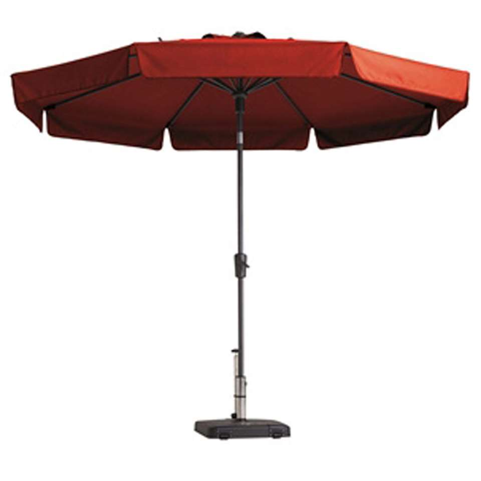 Madison parasol Flores - rood - Ø300 cm - Leen Bakker