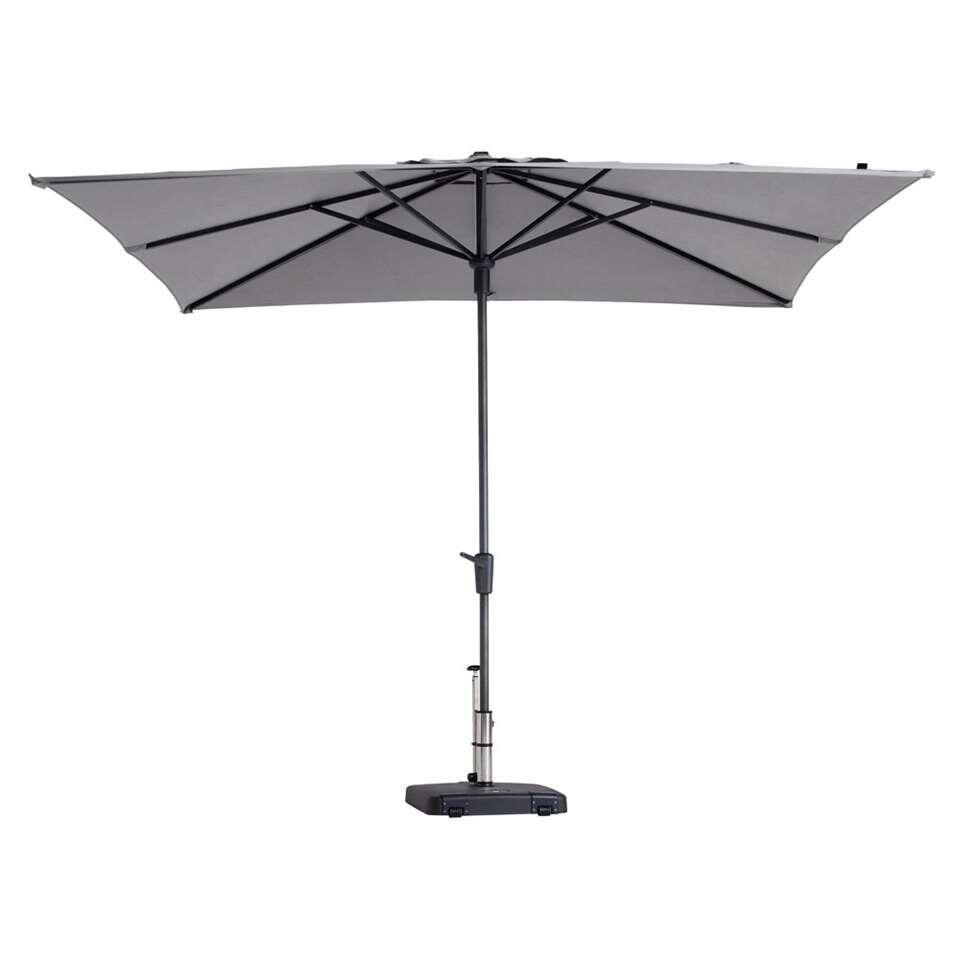 Madison parasol Syros - lichtgrijs - 280x280 cm - Leen Bakker