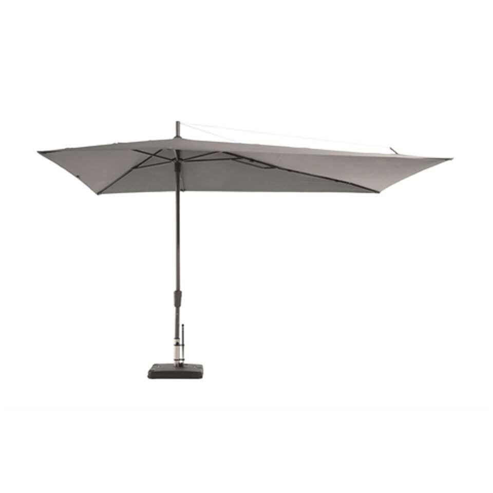 Madison parasol Asymetriq - lichtgrijs - 220 cm - Leen Bakker