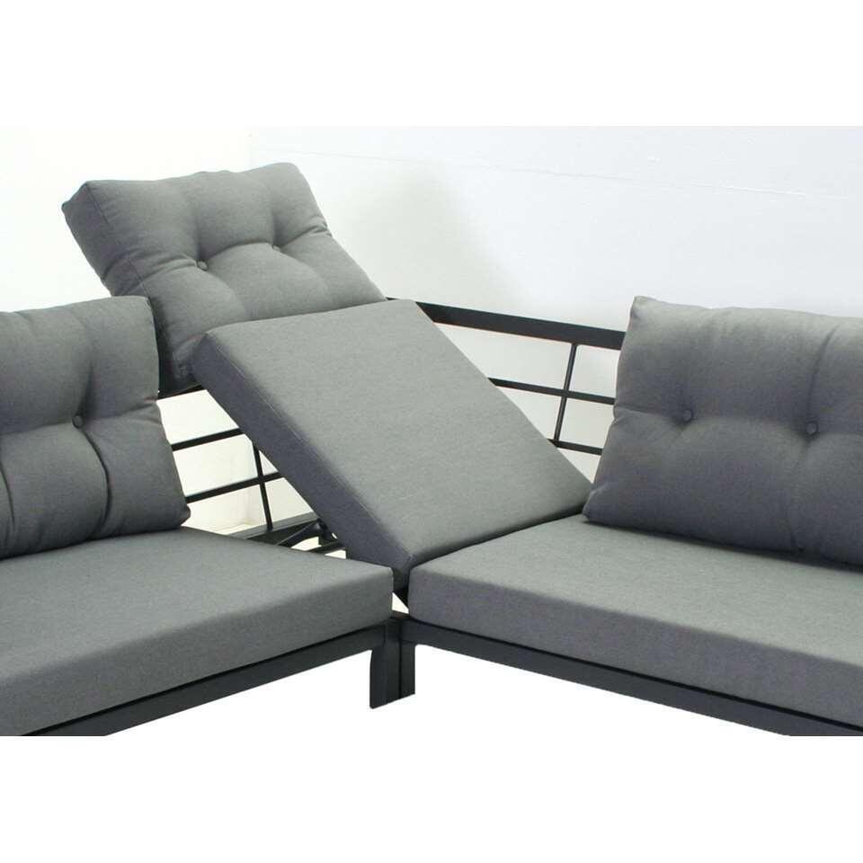 SenS-Line loungeset Elba - antraciet - 3-delig - Leen Bakker