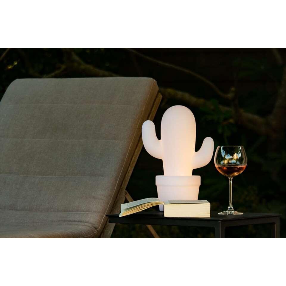 lampe de table lucide cactus pour l 39 ext rieur blanc. Black Bedroom Furniture Sets. Home Design Ideas