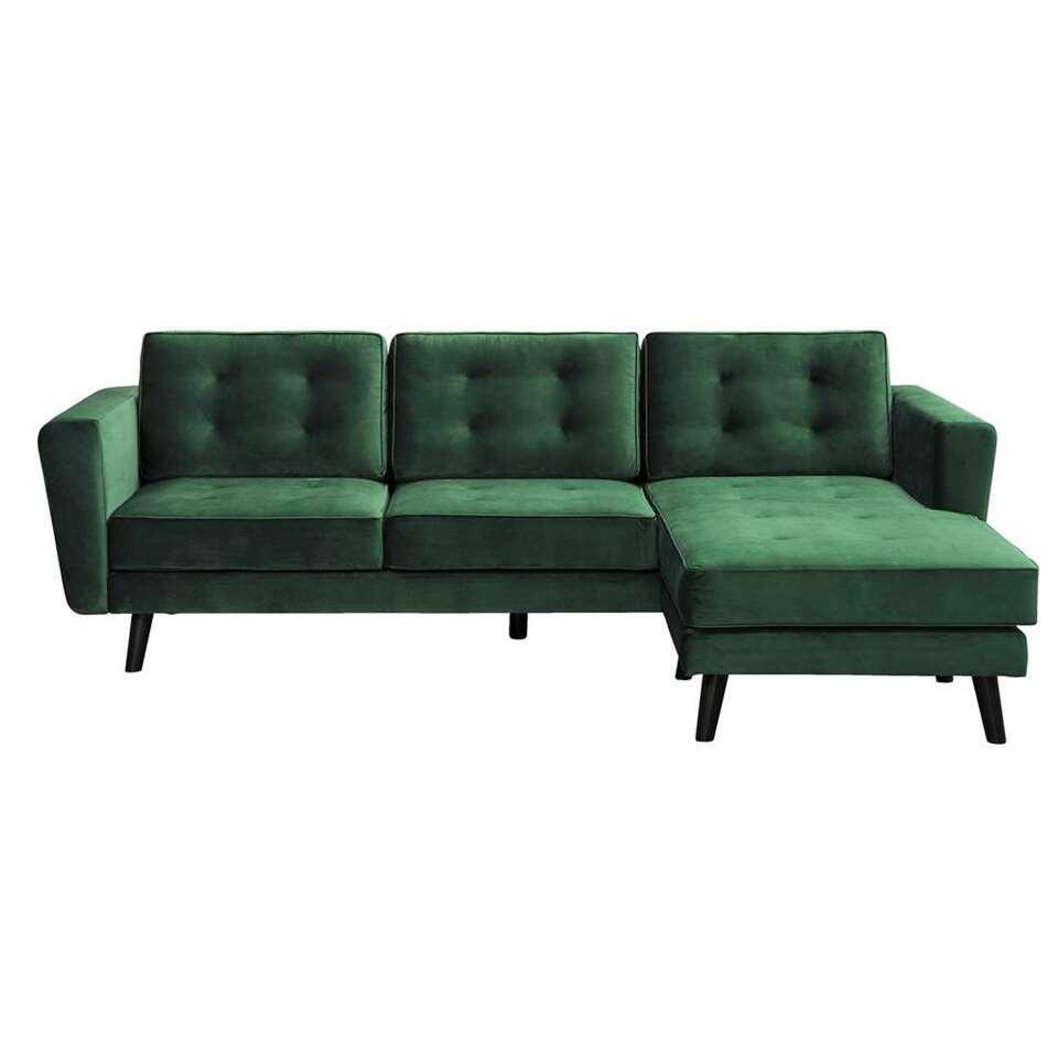 Canapé d'angle Bristol - angle à droite - vert foncé