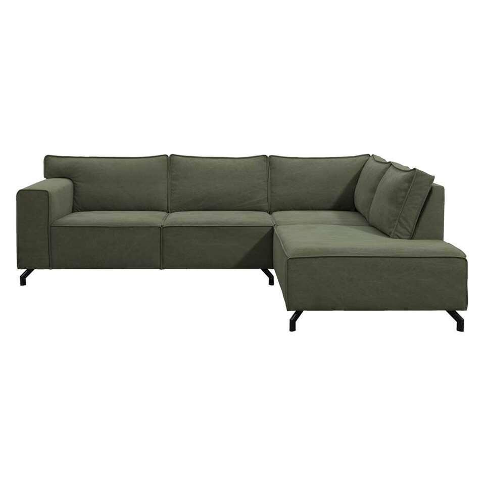 Canapé d'angle Jack - angle à droite - vert olive