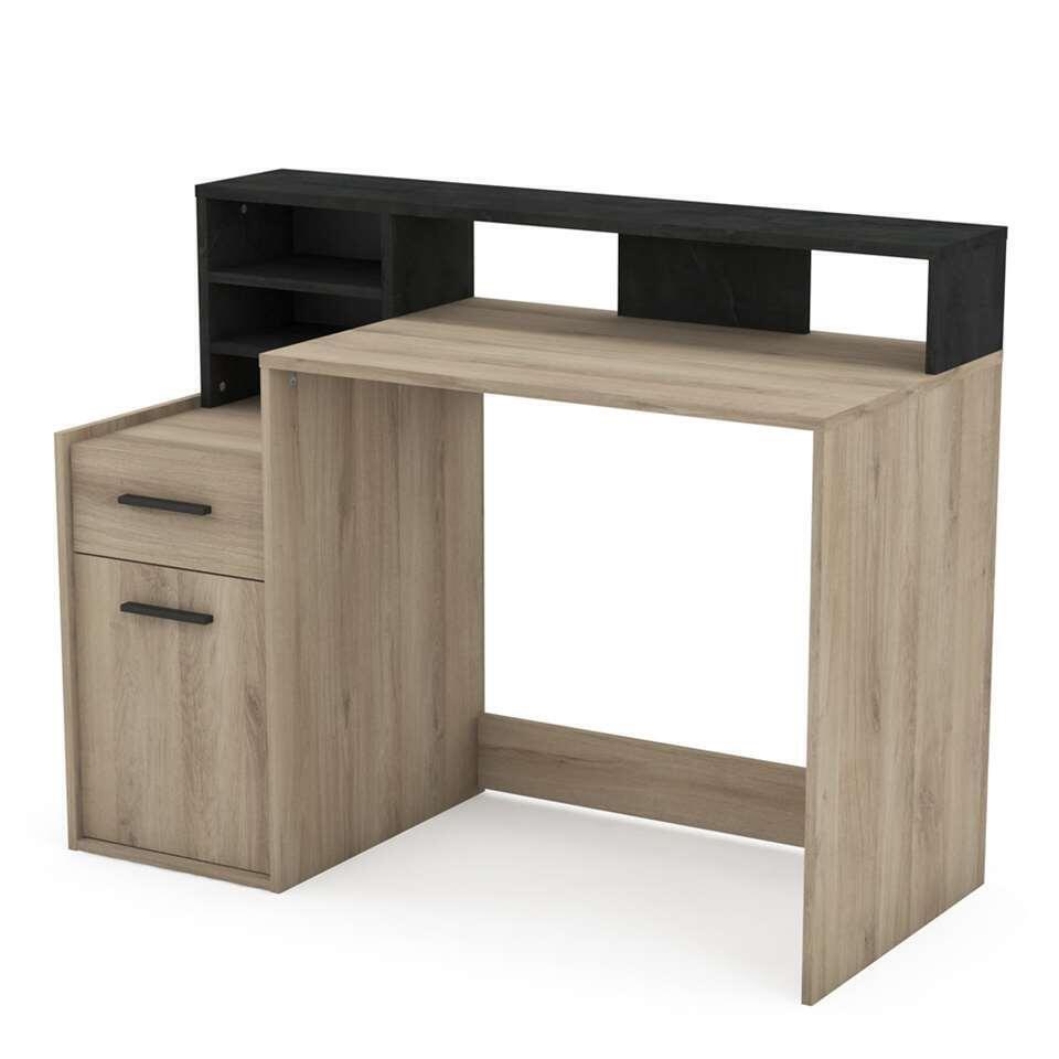 Demeyere bureau Delphi - 1 tiroir+1 porte - brun