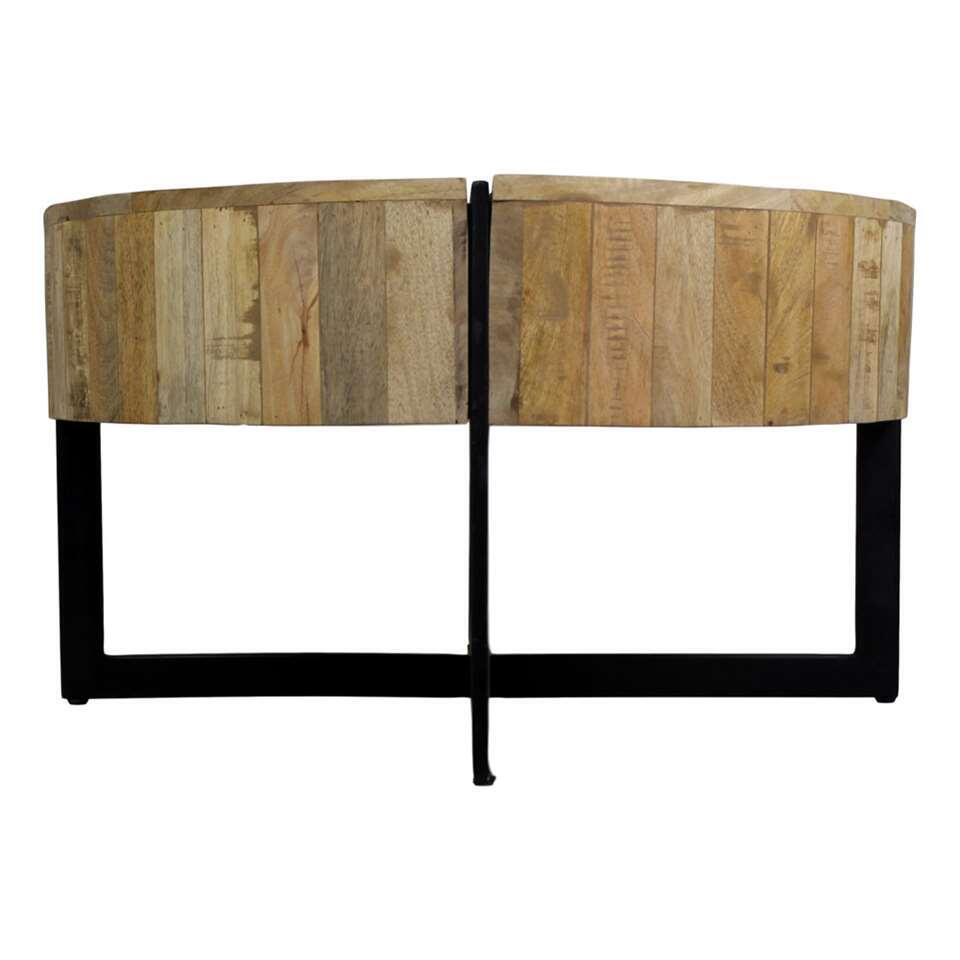 HSM Collection table de salon Jackson - naturelle/noire - Ø75x43 cm