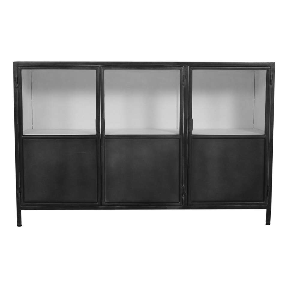 HSM Collection dressoir Bronx - gris/blanc - 130x36x85 cm