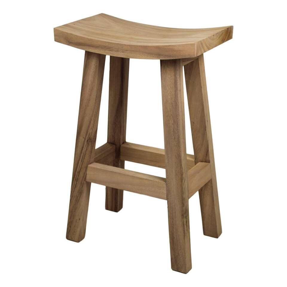 HSM Collection tabouret de bar Osaka - bois - blanc