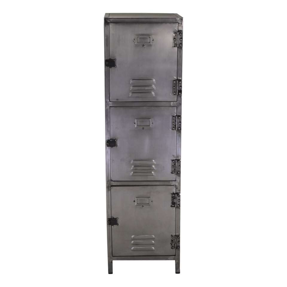 HSM Collection lockerkast York - zilverkleurig  - 40x40x140 cm