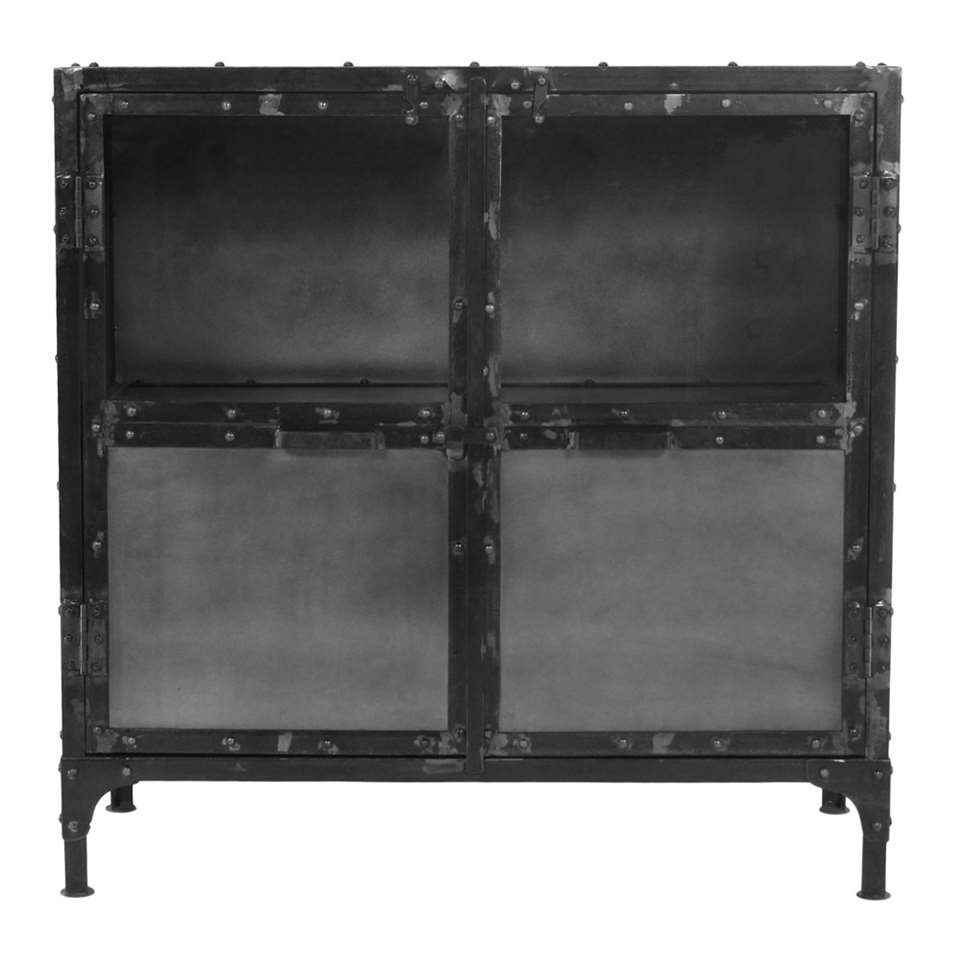 HSM Collection vitrine Brooklyn - noire - 90x40x90 cm