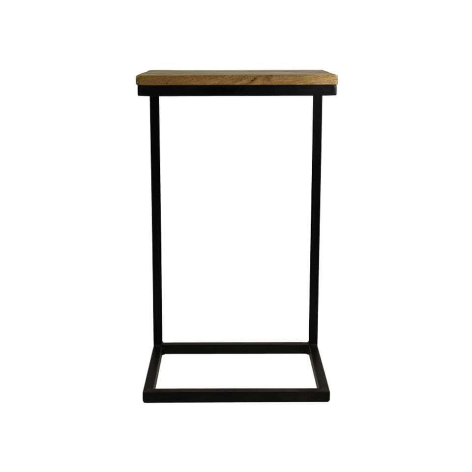 HSM Collection table d'appoint Read - couleur naturelle/noire - 38x30x65 cm