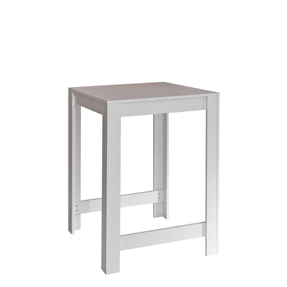 Symbiosis table bar Tilst - blanche/gris béton - 102x80x70 cm