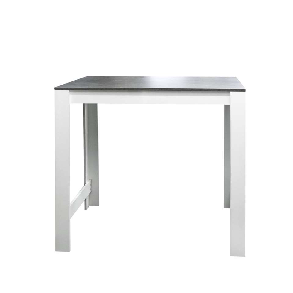 Symbiosis table bar Tilst - blanche/gris béton - 102x110x70 cm
