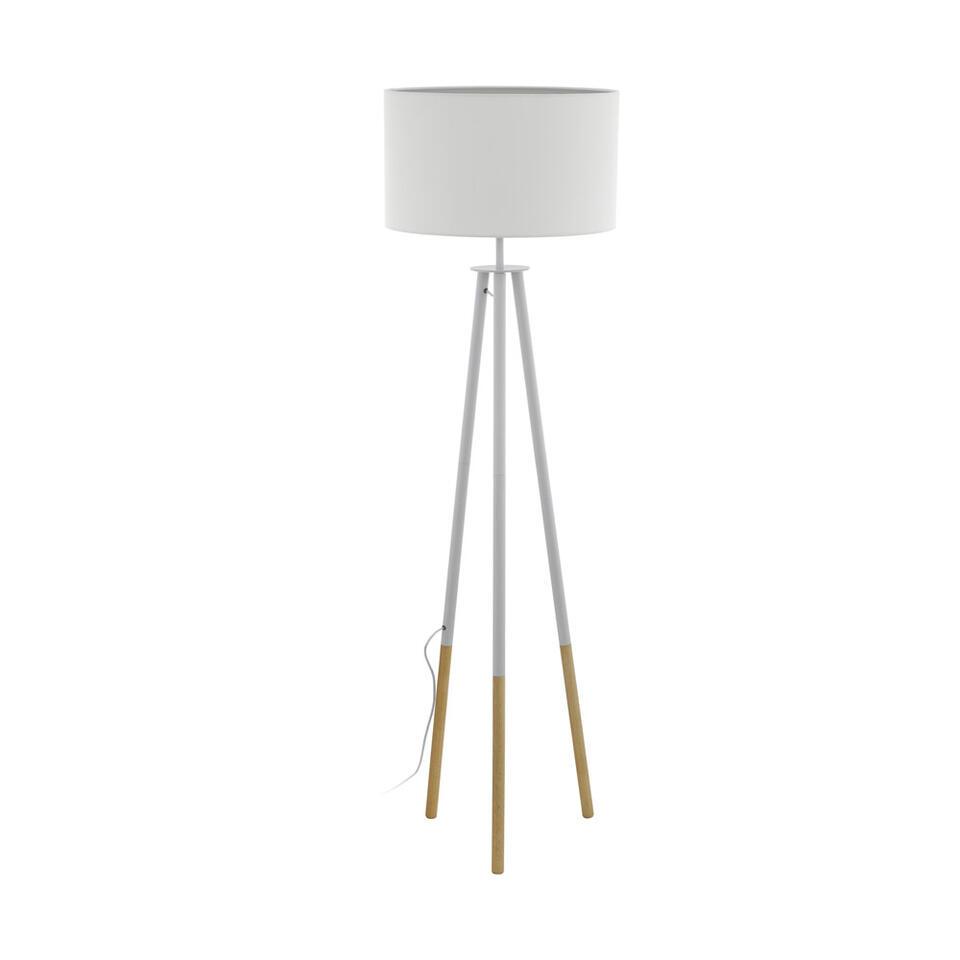 EGLO vloerlamp Bidford - bruin/wit