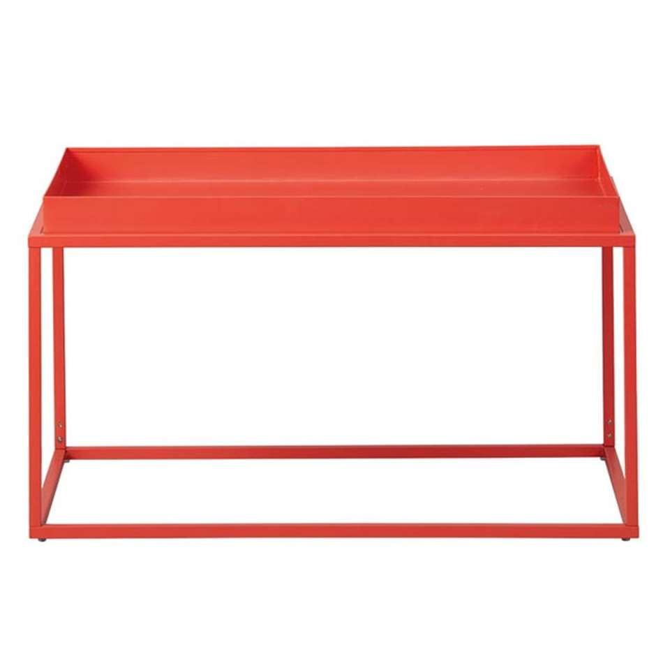 Table de salon Club NY - orange - 45x80x45 cm