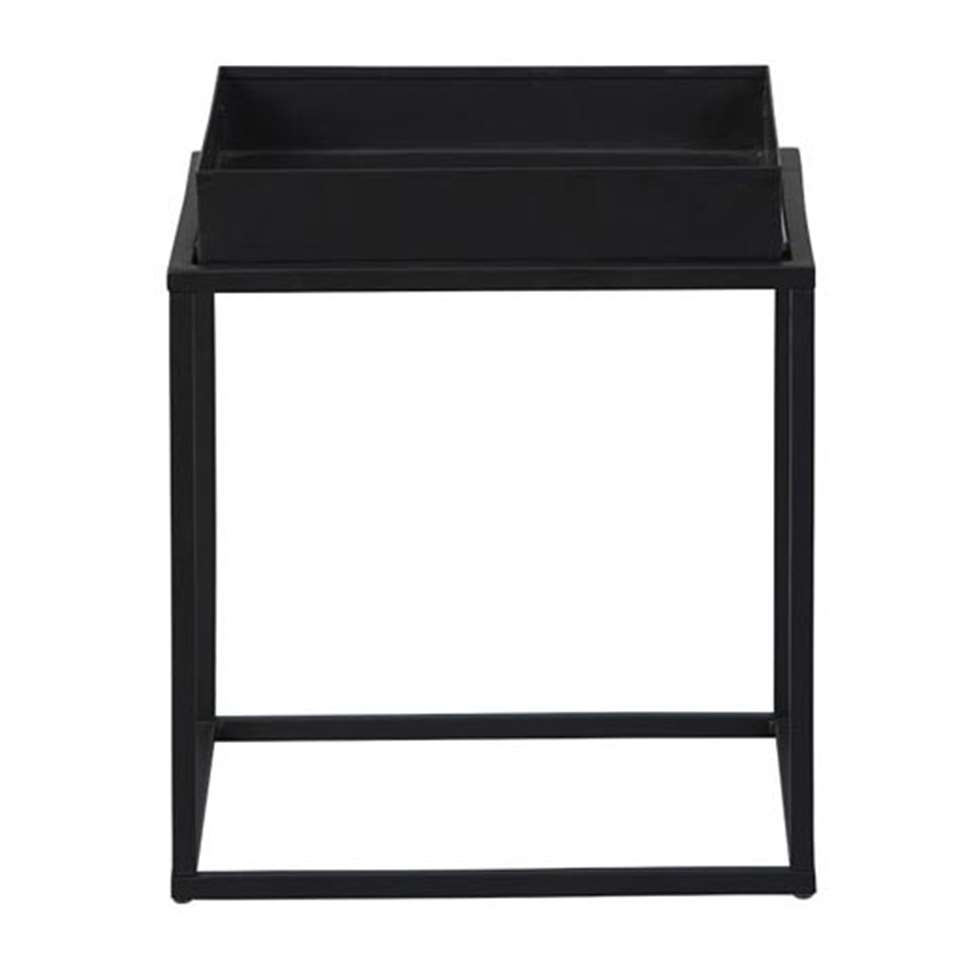 Table d'appoint Club NY - noire - 40x35x35 cm