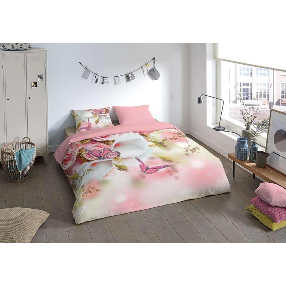 Pure parure de couette Els - rose - 200x200/220 cm