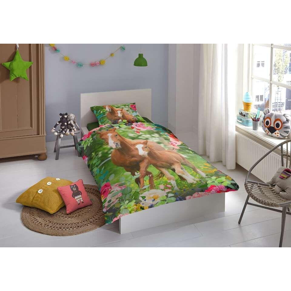 Good Morning kinderdekbedovertrek Foal - veelkleurig - 140x200/220 cm