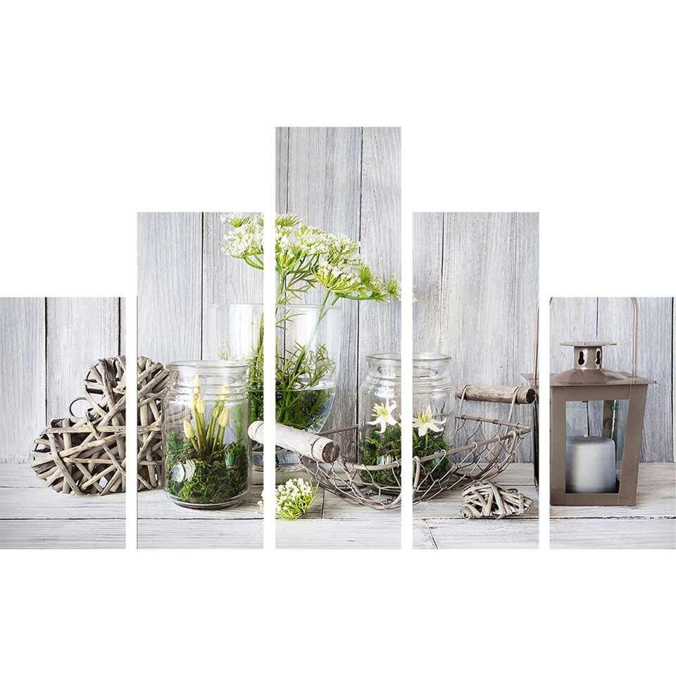 Art for the Home lot de tableaux Botanique - 5 pièces - gris - 150x100 cm