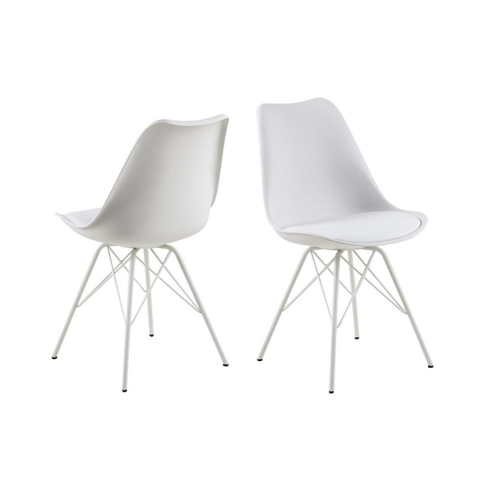 Chaise de salle manger bonn 2 pi ces plastique blanche - Chaise de salle a manger blanche ...