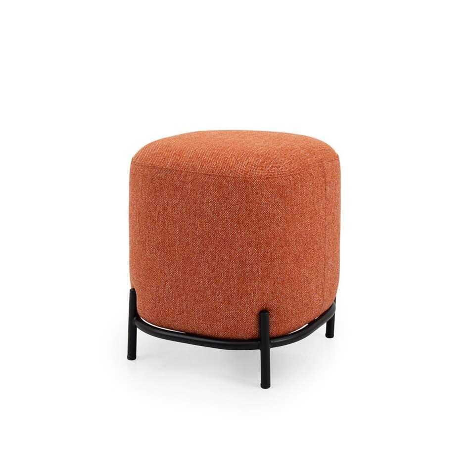 Tenzo pouf Harry - couleur corail - 46x42x42 cm
