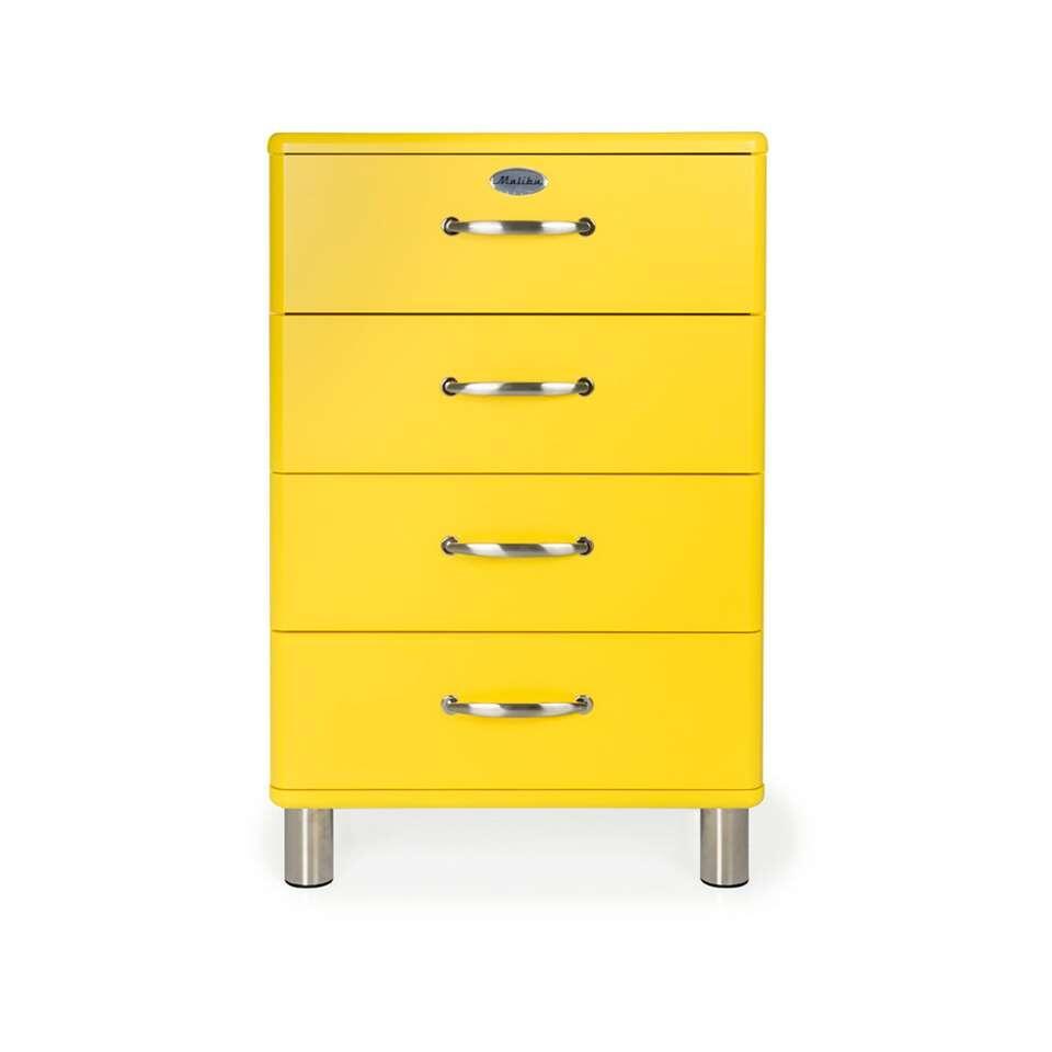 Tenzo ladekast Malibu 4 lades - geel - 92x60x41 cm