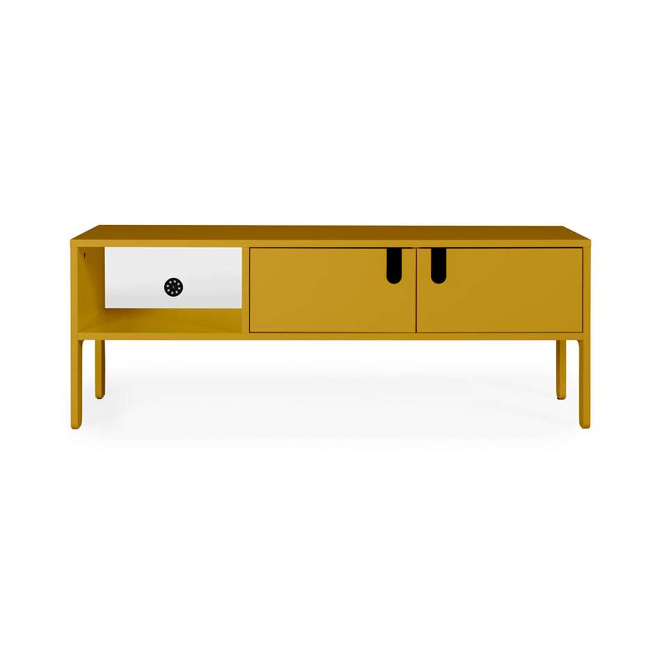 Tenzo meuble tv Uno 2 portes - jaune moutarde - 50x137x40 cm