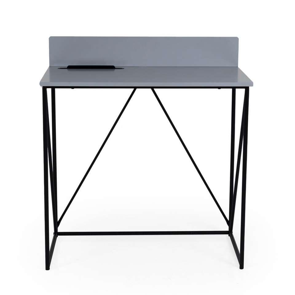 Tenzo bureau Tell - gris/noir - 86x80x48 cm
