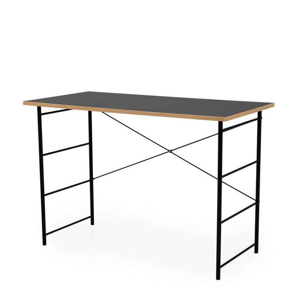 Tenzo bureau Exo - noir/couleur chêne - 75x110x55 cm