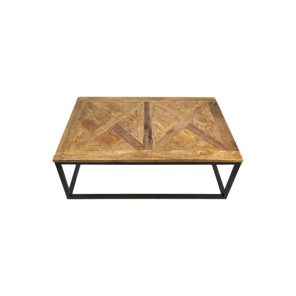 HSM Collection salontafel Jorn - naturelkleur/zwart - 40x110x70 cm