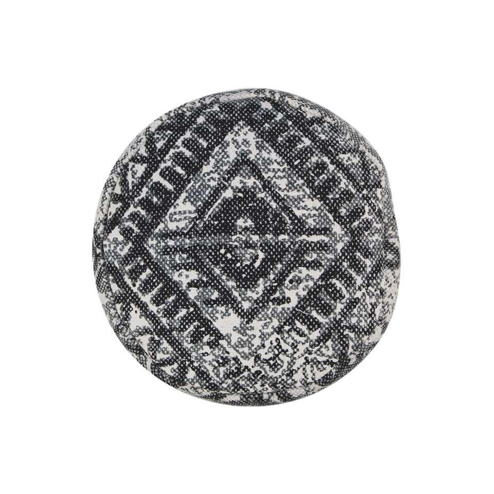 HSM Collection pouf Lina - gris - 35x42x35 cm