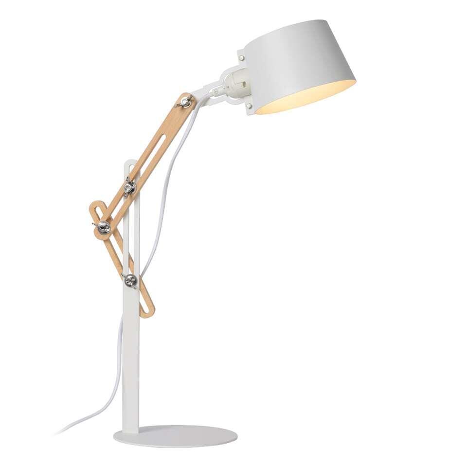 Lucide lampe de bureau Kreen - blanche - 46x18x65 cm