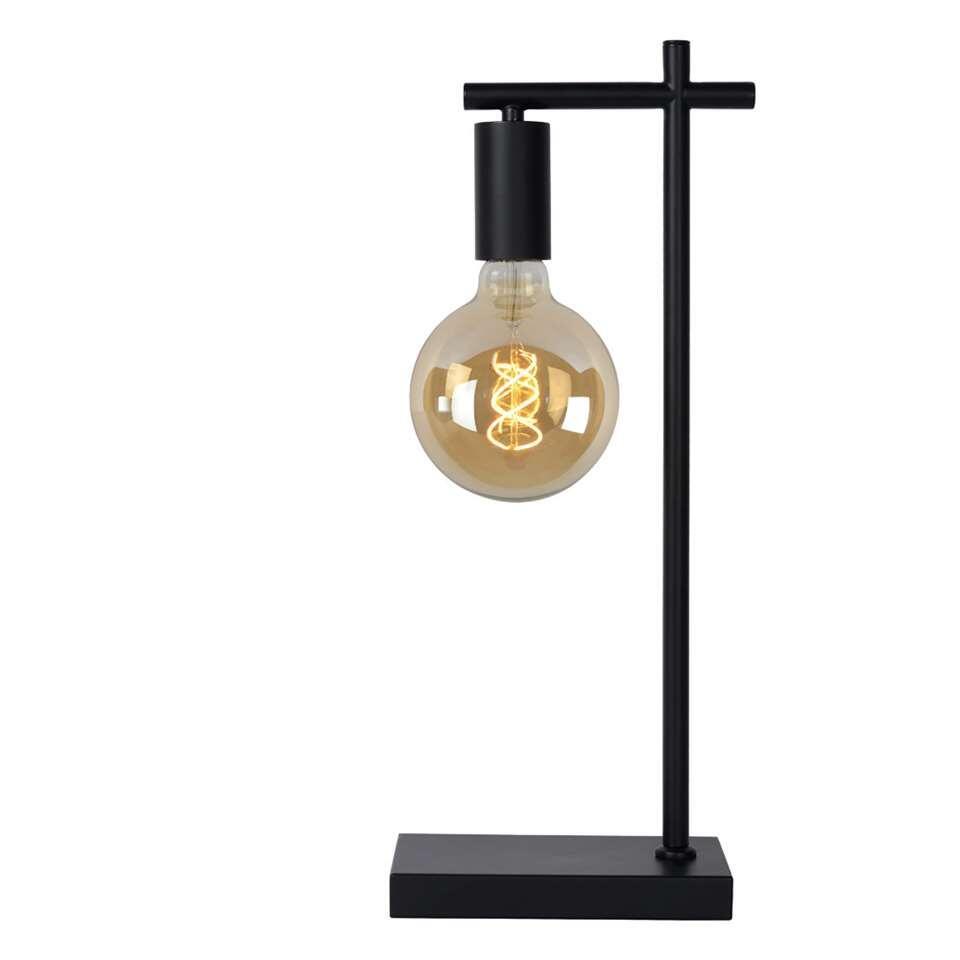 Lucide lampe de table Leanne - noire - 21x12x52 cm