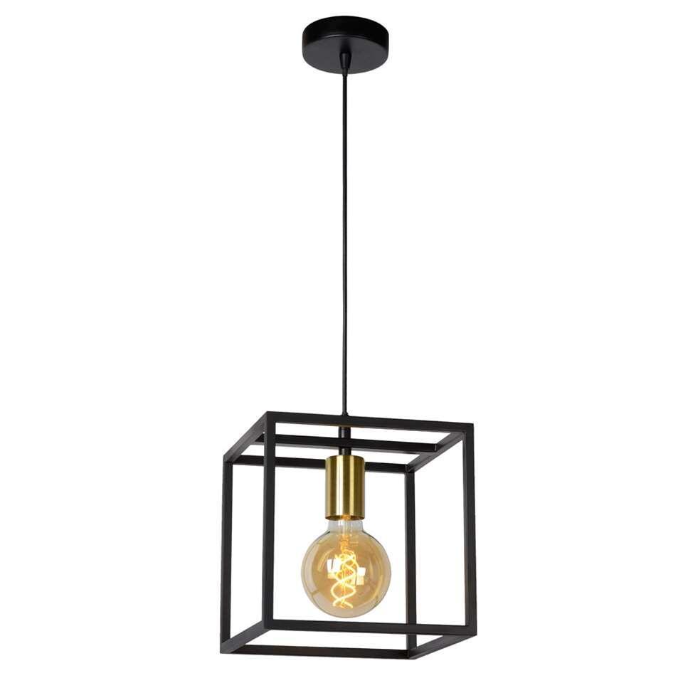 Lucide suspension Ruben - noire - 22x22x150 cm