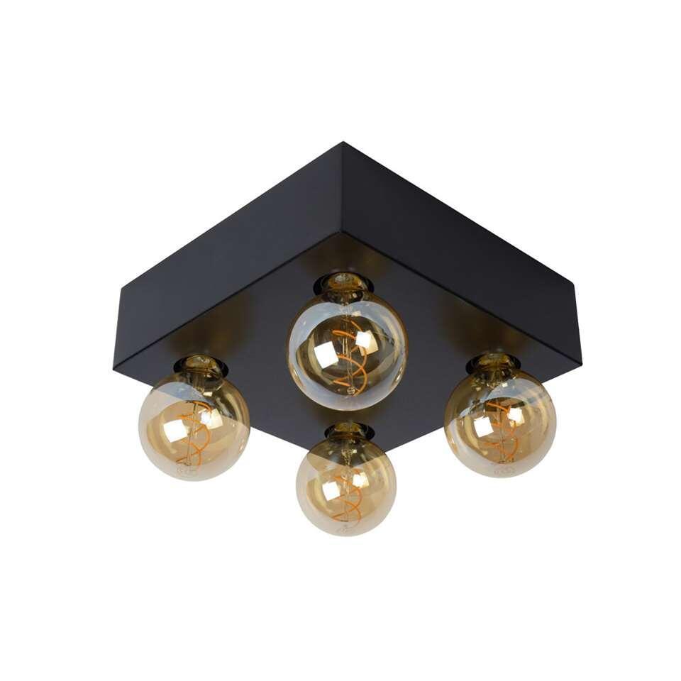 Lucide plafonnière Surtus - zwart - 29x29x8,5 cm