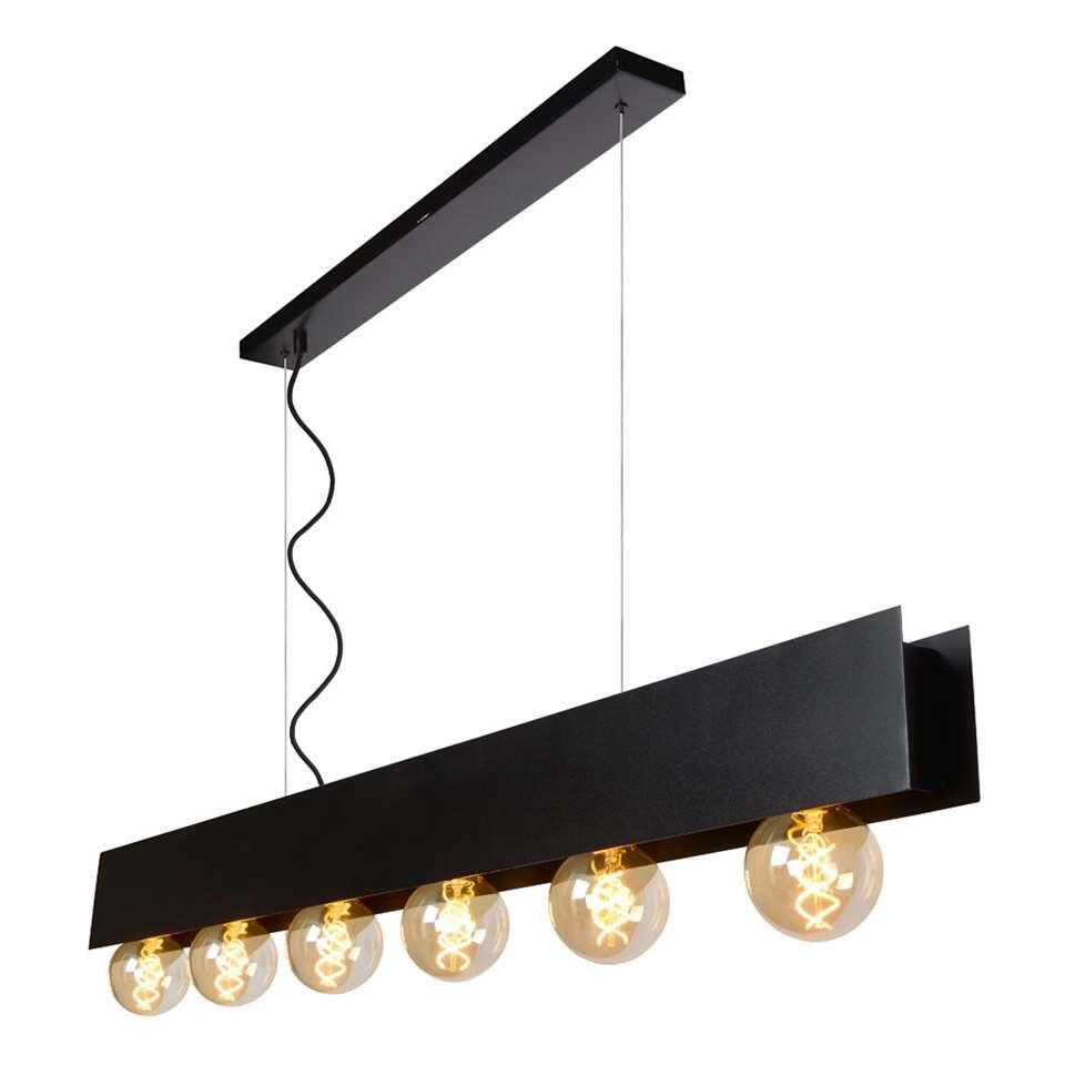 Lucide hanglamp Surtus - zwart - 134x7x130 cm