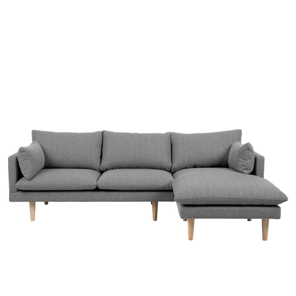 Canapé d'angle 1é droite Invik - tissu Portland - gris clair
