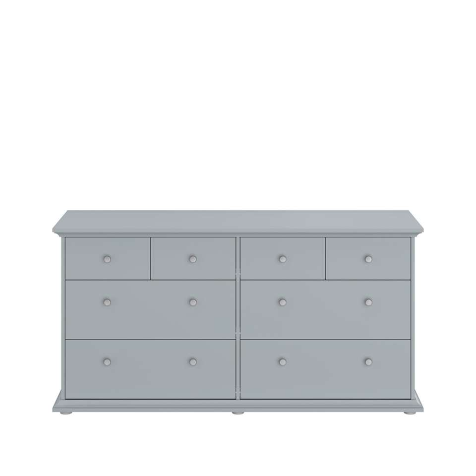 Parisot commode Margaux - 8 lades - gris - 77x46x152 cm