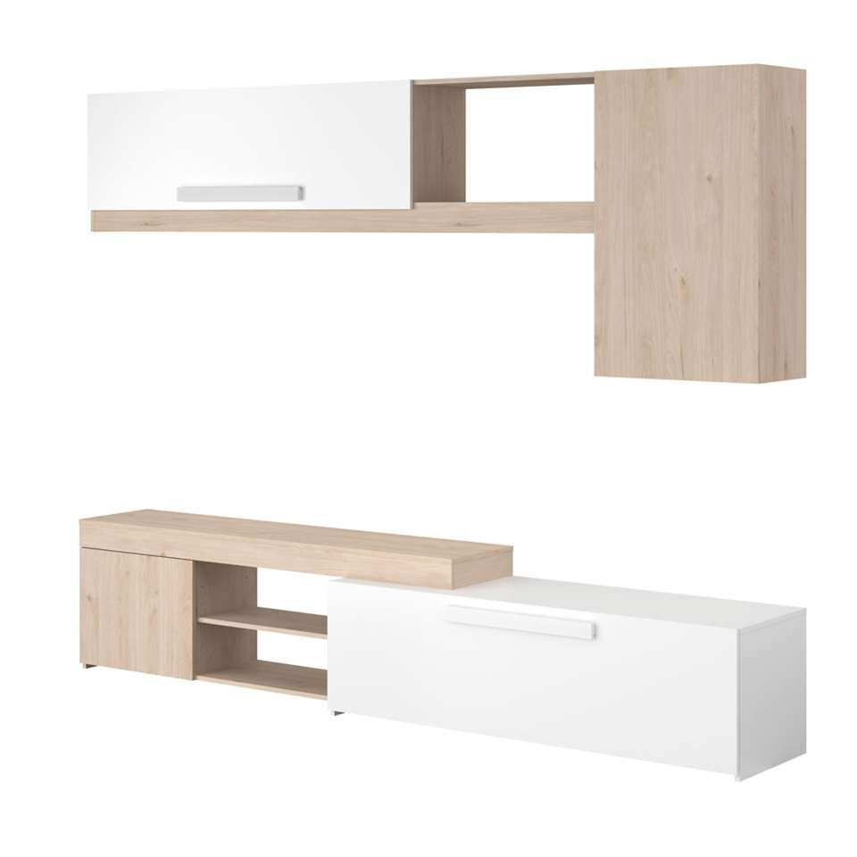 Parisot TV-meubel On air - eiken/hoogglans wit - 200x250x42 cm