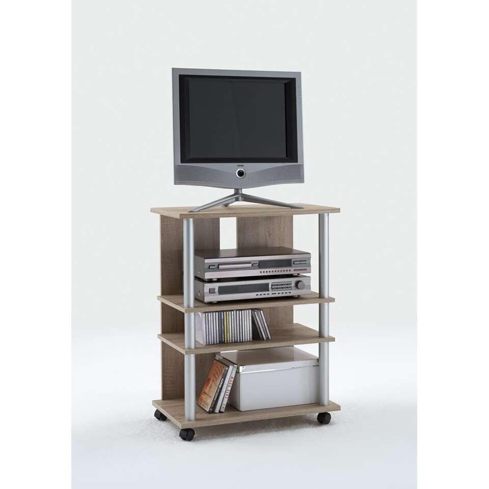 Meuble TV Tilton haut - couleur chêne - 65x85x40 cm
